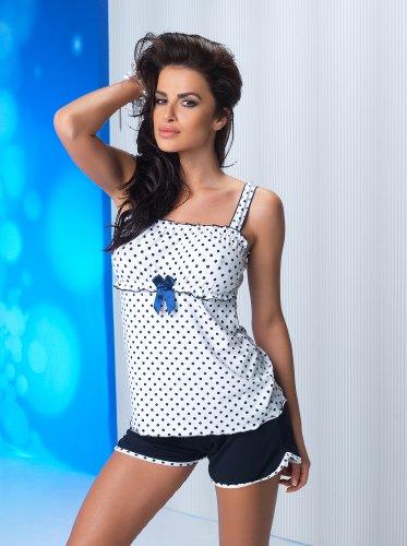 DONNA Pyjashort belle et de haute qualité, un ensemble de chemise mignon et short coquet dans un paquet cadeau