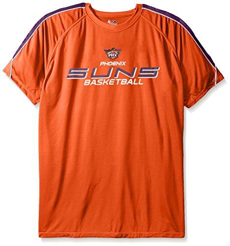 NBA Phoenix Suns Men's Short Sleeved Birdseye Crew T-Shirt with Shoulder Piecing, 3X, Dark ()