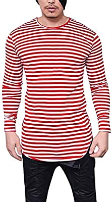 WWricotta LuckyGirls Camisetas para Hombre Rayas Camisa de Manga ...