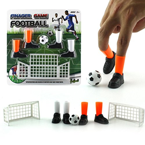 Serzul Mini Tabletop Games Ideal Party Mini Finger Soccer Match Toy Funny Finger Toy Game Sets With Two Goals Mini Handheld Desktop Table Soccer Game Toys for Reduce Stress Killing Time
