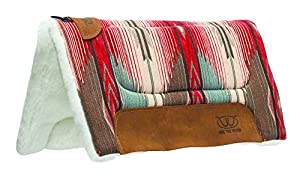 Weaver Leather All Purpose Pony Saddle Pad, Red/Turquoise