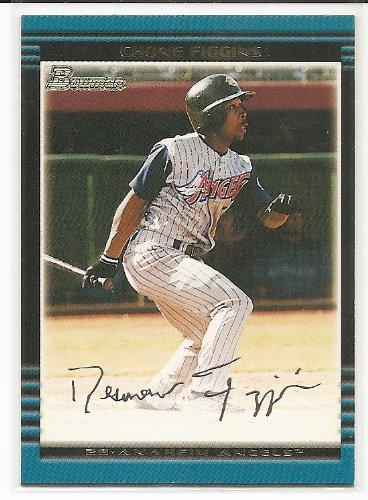 Chone Figgins 2002 Bowman Gold Anaheim Angels Rookie Parallel Card #281