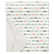 Carousel Designs Peach and Mint Half Moon Crib Blanket