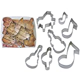 Musical Tin Cookie Cutter 7 Pc Set L1876