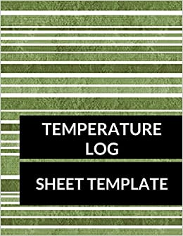 amazon com temperature log sheet template large 8 5 inches by 11