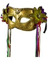 Mask with Flower and Ribbon - Gold W41S33E