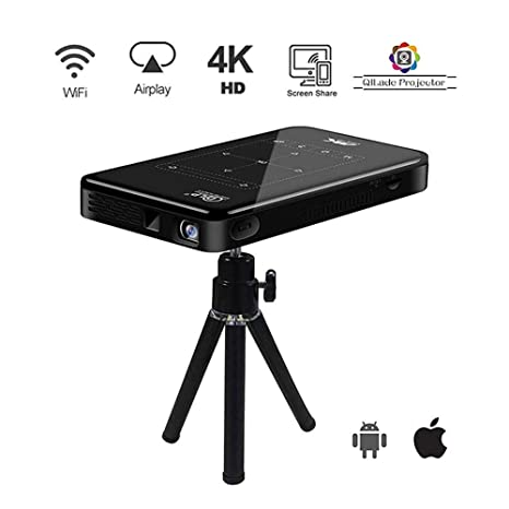 4K Proyector Portátil WiFi Bluetooth Touchpad Proyector De ...