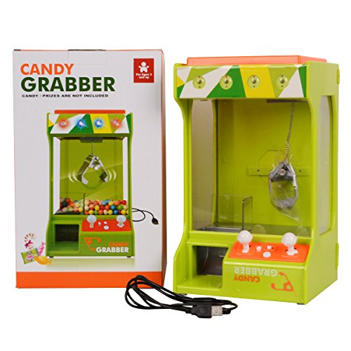 Creative Electronic Candy Grabber Machine Claw Arcade Game Battery Operated with light & Music Bring Funs To Your (Gif With Sound Halloween)