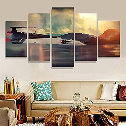Large Storm Trooper Star Wars Movie Painting Print On Canvas Art For Living  Room Decor Painting