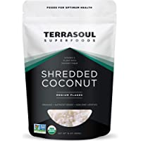 Terrasoul Superfoods Organic Coconut Flakes, 1 Lb - Medium Flakes | Unsweetened | Perfect for Baking