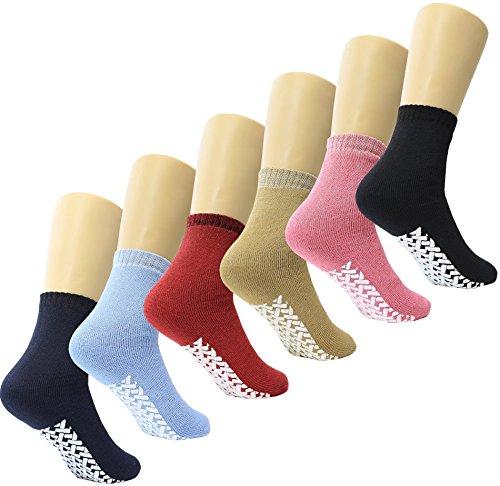 Non Skid / Slip Socks with Gripper Bottom - Hospital Patient Socks - 6 -