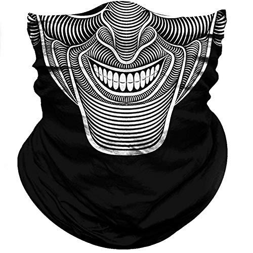 BonneChance Skull Face Mask 3D Tube Mask Half Sun Dust Wind Protection Seamless Face Mask Bandana Skeleton Face Shield Motorcycle Bike Riding Fishing Hunting Cycling