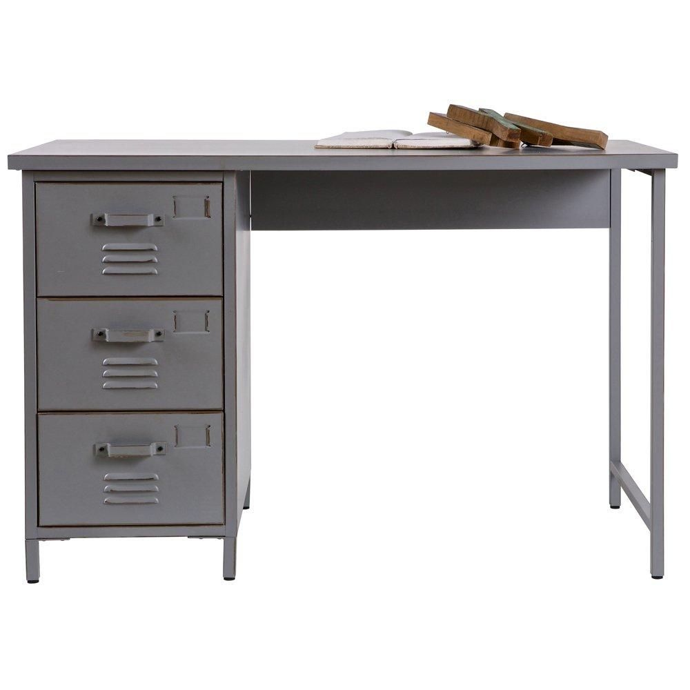 Schreibtisch MAX Kinder Metall Tisch Schulschreibtisch Jugendschreibtisch grau