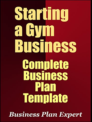 amazon com starting a gym business complete business plan template