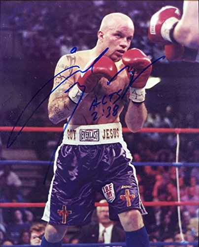 Angel Manfredy Autographed/ Original Signed 8x10 Color Photo - Popular Boxer in the - In The Popular 90s