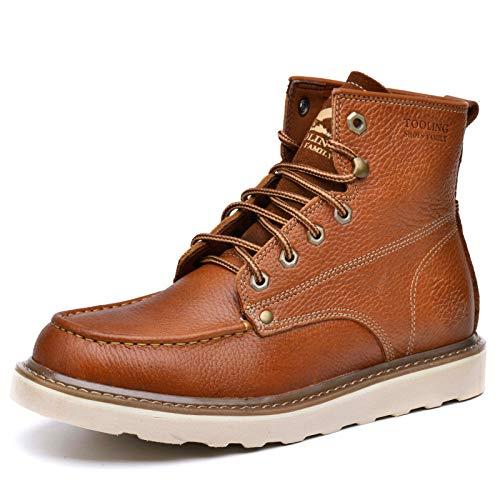 43 Homme En D'automne Gardent light Au Cuir Bottes gaoyz brown Martin D'outillage Chaud Hiver Extérieur Respirant Chaussures Hwg Antidérapant nWwPUxEw