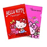 Sanrio Hello Kitty School Office Layer File Folder : Set of 2 (Red and Pink)