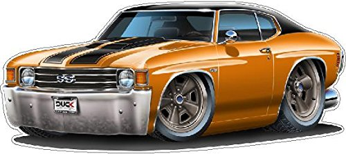 - 1972 Chevelle SS WALL DECAL Vintage 3D Car Movable Stickers Vinyl Wall Stickers for Kids Room