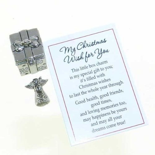 "Ganz 1/2'' Metal Prayer Box with Miniature Charms (""Christmas Wish"") from Ganz"