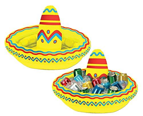 UHC Inflatable Sombrero Cooler Cinco de Mayo Theme Party Decoration - Inflatable Sombrero Cooler