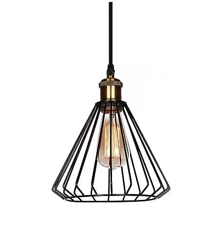 Lámpara colgante vintage de techo - Lámpara de araña de jaula de ...