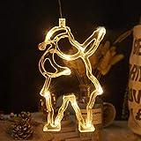 Christmas Tree Decoration Light, Santa Style Light with Suction Cup Decorative String Light PerfectforIndoor Christmas Trees Shop Restaurant Window Light VanityMirror Decoration, LED Warm White