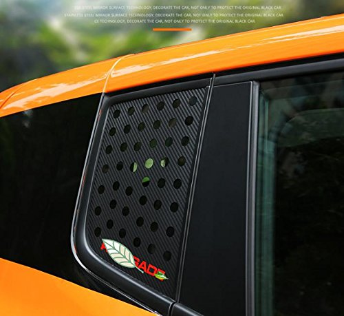 FMtoppeak Car Exterior Decoration Rear Small Window Cabon Fiber Paper Sticker Fit For Jeep Renegade 2015 Up