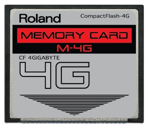 4GB Roland M-4G CompactFlash CF Memory Card for V-Synth, Fantom X6, X7, X8, XR, Xa and more. ()