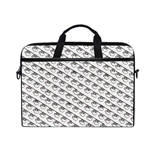 Seamless Sloth Figurine Pattern Laptop Briefcase,15-15.4 Inch Laptop Bag,Business Office Bag Men Women,Stylish Nylon Multi-Functional Shoulder Messenger Bag Notebook Computer Tablet ()