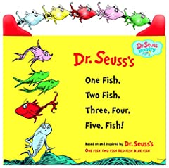Five fish-shaped beads that move across the top of this sturdy board book allow toddlers to count along as they this adorable book based on the classic Beginner Book One Fish Two Fish Red Fish Blue Fish! Safety-tested for children of all ages...
