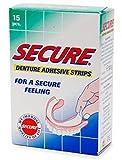 Secure Denture Adhesive Strips 15 ea (Pack of 8)