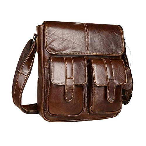 Crossbody Genuine Casual Twee Men's Bag Small Leather Messenger Bags qStnS0w8