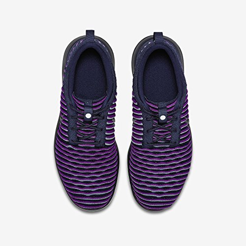 Nike Youth Roshe Two Flyknit Running Shoes-Navy Blue/ Purple-4 by Nike (Image #1)