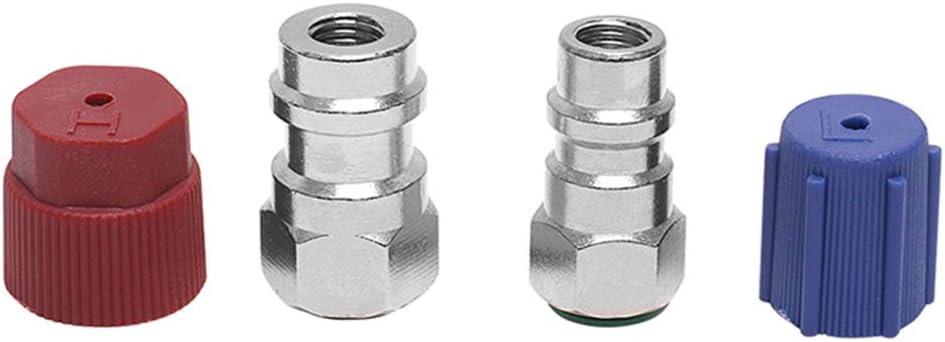 Flushzing 4PCS Set R12 R-134A Alle R12 Systems Retrofit Umwandlungs-Adapter Fittings Kit VA-LH11