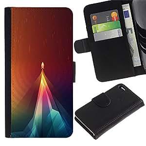// PHONE CASE GIFT // Moda Estuche Funda de Cuero Billetera Tarjeta de crédito dinero bolsa Cubierta de proteccion Caso Apple Iphone 4 / 4S / Geometry Rocket /