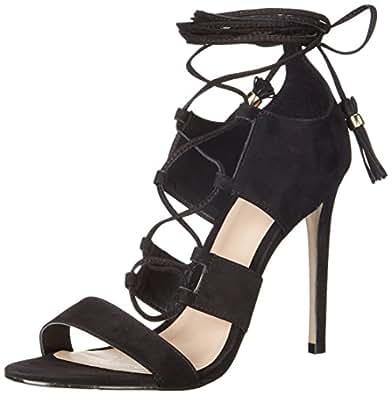Aldo Women's Marys Dress Sandal, Black Nubuck, 7 B US