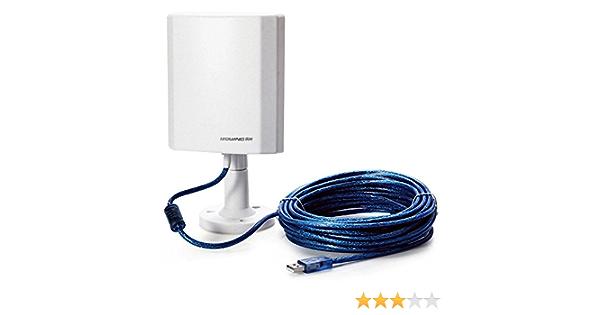 Antena WiFi USB Leguang LG N100 exterior con 5 metros de cable USB y medio alcance de conexión inalámbrico