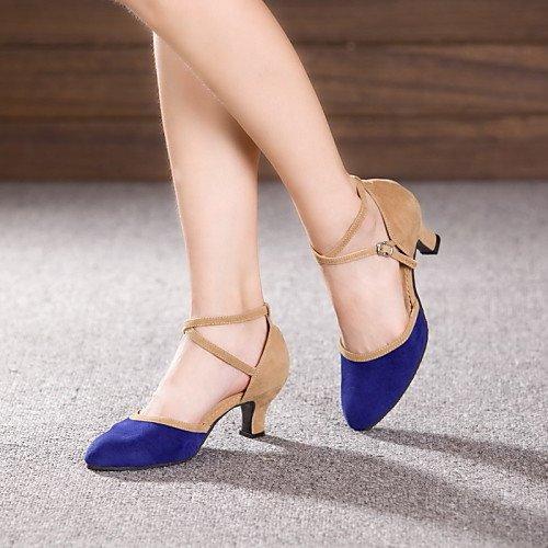 Q Cuban Shoes Leather Patent T Dance Heels Camel Camel Beginner Heel Women's T 8R5x6C