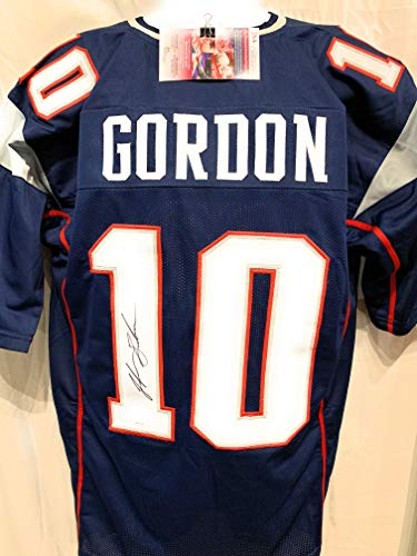 Josh Gordon New England Patriots Signed Autograph Custom Blue Jersey JSA Witnessed Certified