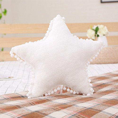 Creative Star Moon and Cloud Plush Pillows Stuffed Toys (white, star)