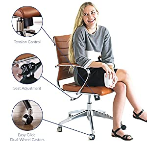 LexMod Jive Ribbed High Back Executive Office Chair