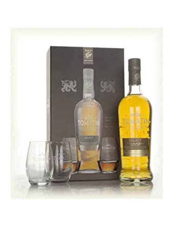Tomatin Legacy Single Malt Scotch Whisky Gift Set With Two Glasses