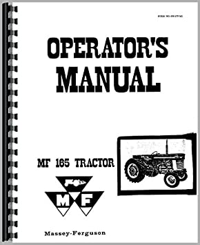 massey ferguson 165 tractor operators manual amazon co uk garden rh amazon co uk massey ferguson 165 service manual massey ferguson 165 service manual pdf free download