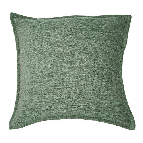 McAlister Plain Chenille Large Pillow Cover | Super-Soft Woven Chenille Cushion Case | Solid Duck Egg Blue 20x20