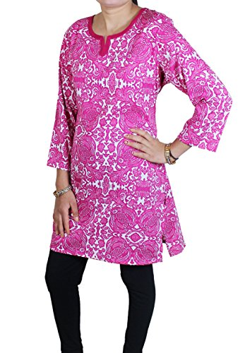 Womens Casual Loose Fit Printed Indian Tunic Top Blouse T-shirt India Clothes -XL (Homemade Halloween Gift Ideas)