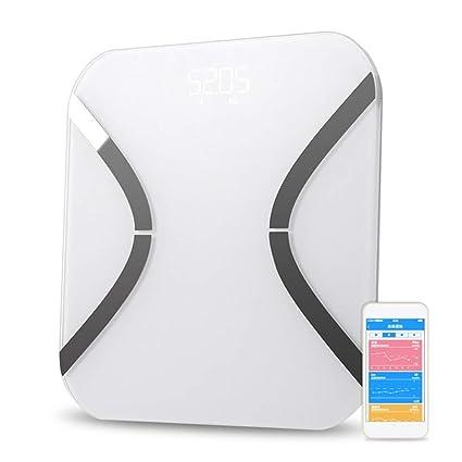 WMVVU Báscula De Baño Mini Balanzas Inteligentes Blancas Balanzas Digitales para El Hogar Balanzas Electrónicas De