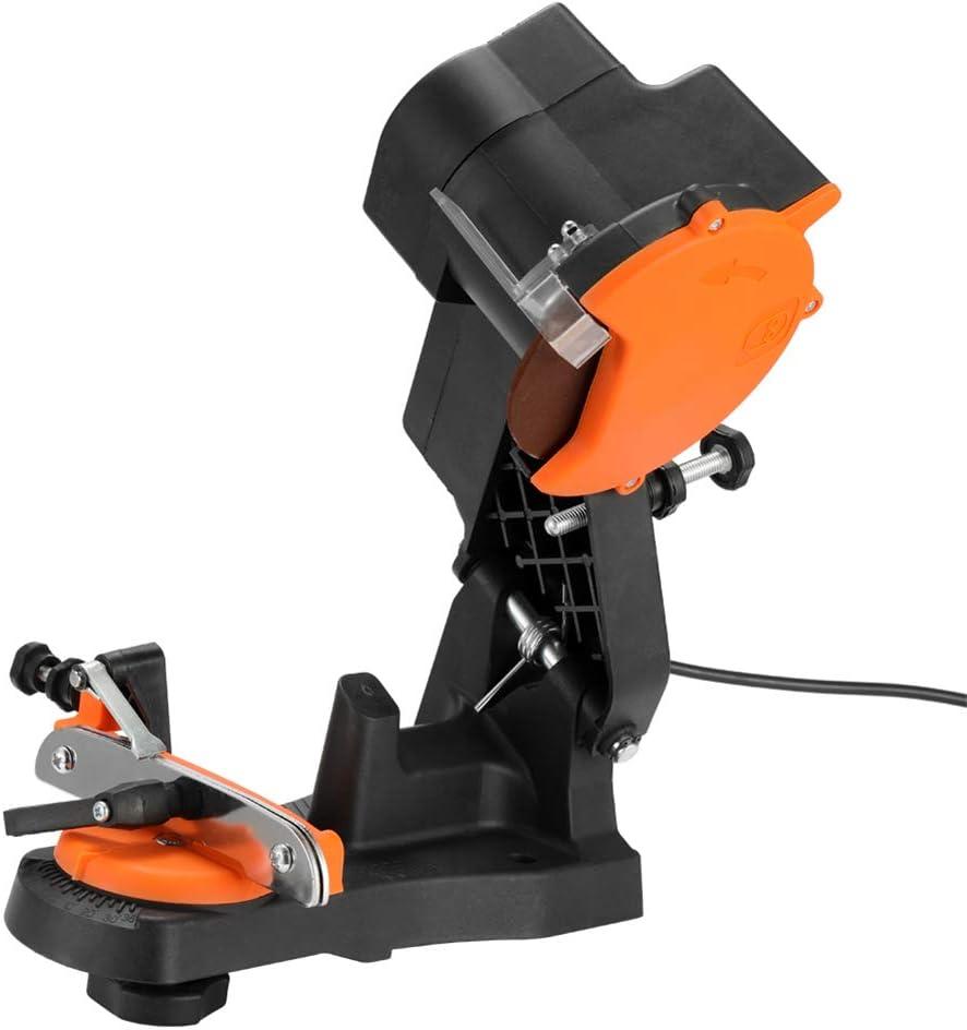 Juego de herramientas de amoladora de afilador de cadena de motosierra eléctrica, ángulo de resistencia de molienda ajustable, protección de apagado Disipación de calor rápida de alta temperatura