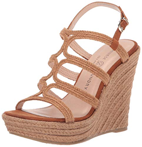 Chinese Laundry Women's Milla Espadrille Wedge Sandal Cognac 8 M US Chinese Laundry Womens Shoes
