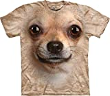 A&E Designs Chihuahua Shirt Tie Dye Dog Face T-shirt Adult Tee