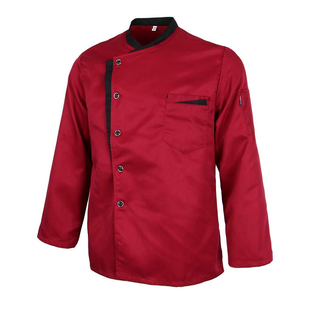 F Fityle Männer Frauen Kochjacke Langarm M-3XL Bäcker Kochhemd Bäckerjacke Kochbekleidung Gastronomie Arbeitskleidung Arbeitsjacke